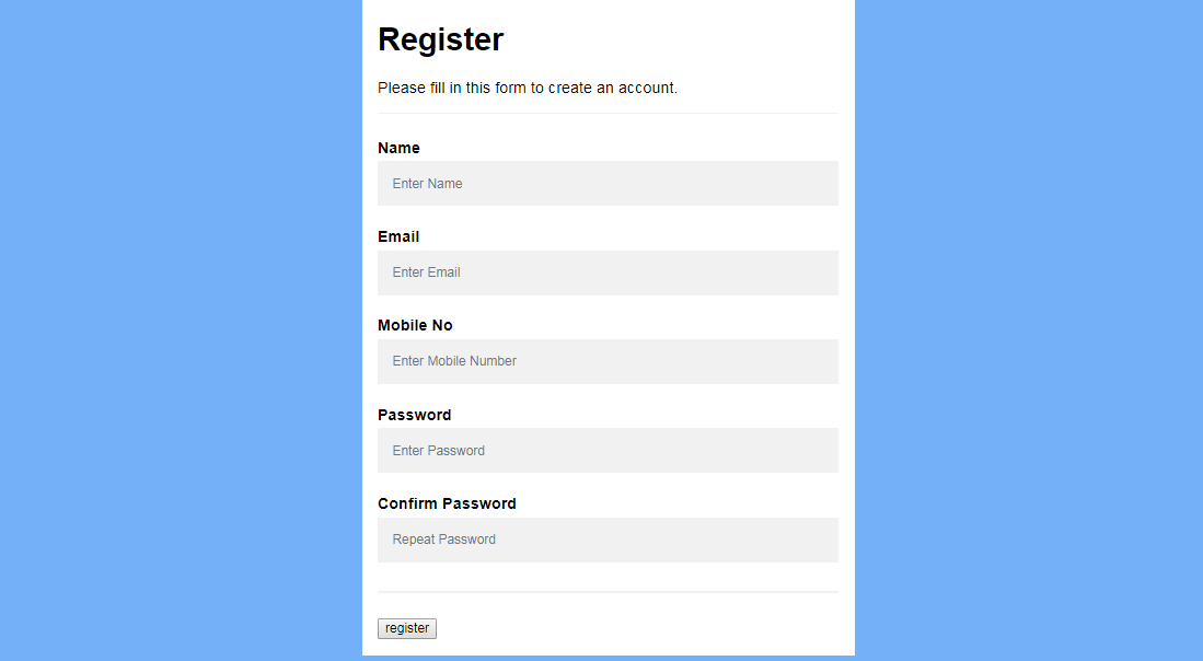 Registration form with jquery validation