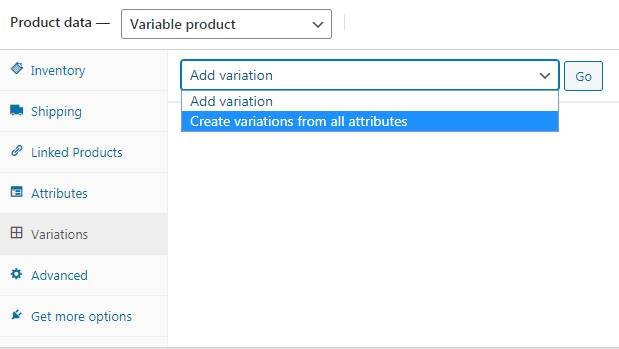 WooCommerce Products Variations