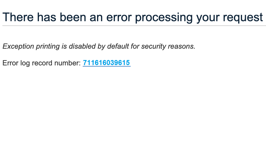There has been an error processing your request in Magento